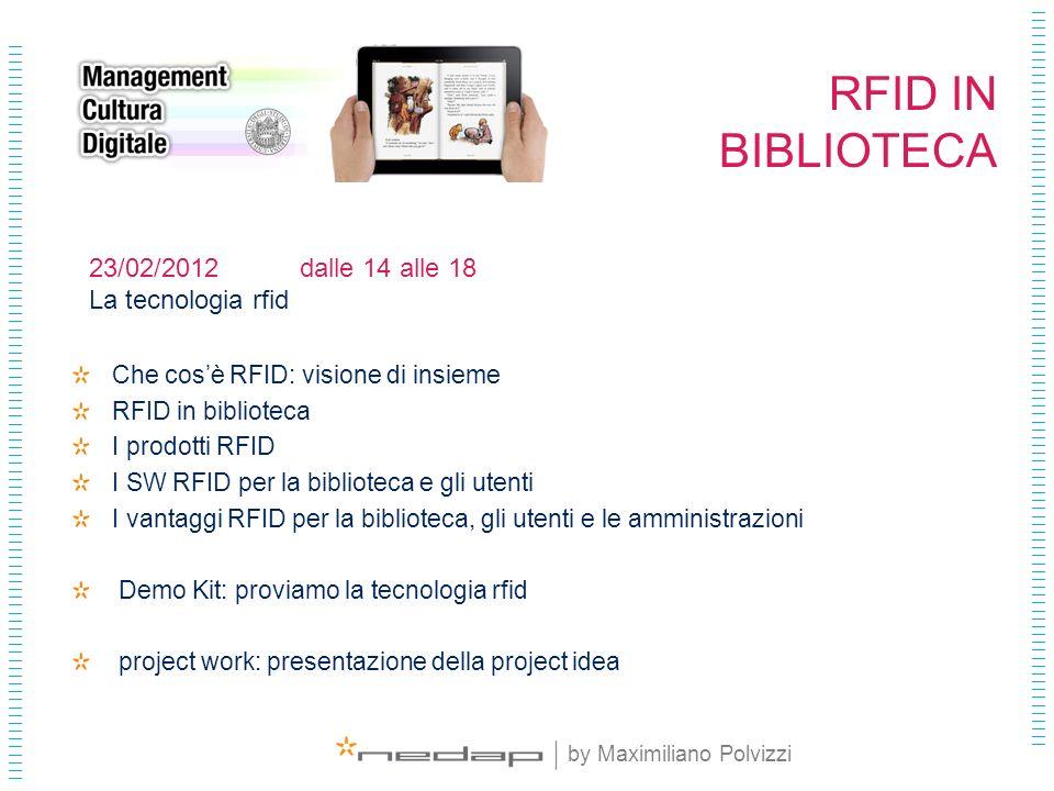 RFID IN BIBLIOTECA 23/02/2012 dalle 14 alle 18 La tecnologia rfid