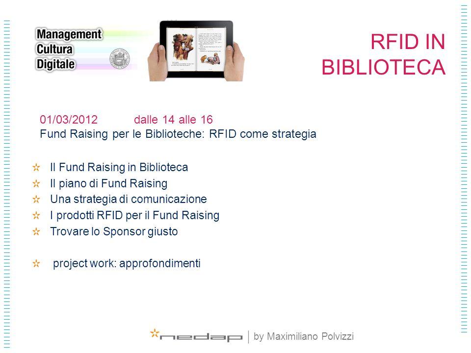 RFID IN BIBLIOTECA 01/03/2012 dalle 14 alle 16
