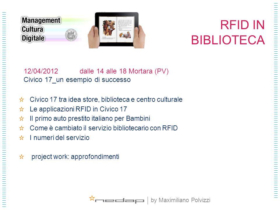 RFID IN BIBLIOTECA 12/04/2012 dalle 14 alle 18 Mortara (PV)