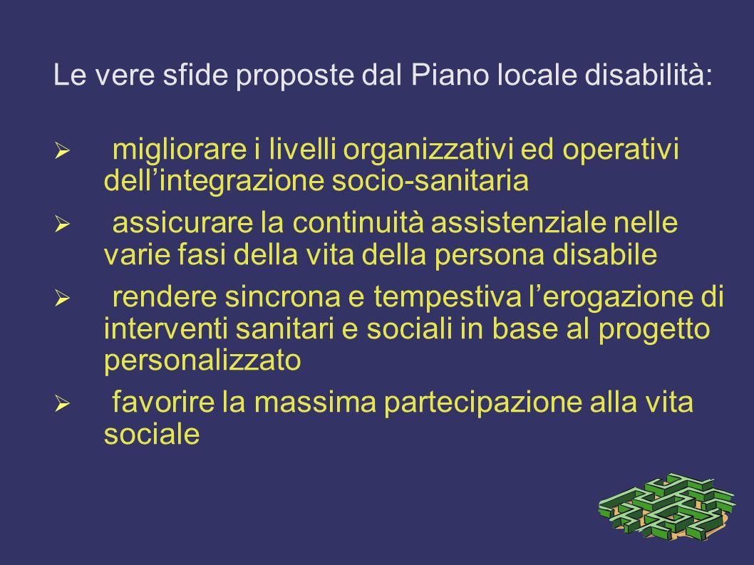 Le vere sfide proposte dal Piano locale disabilità: