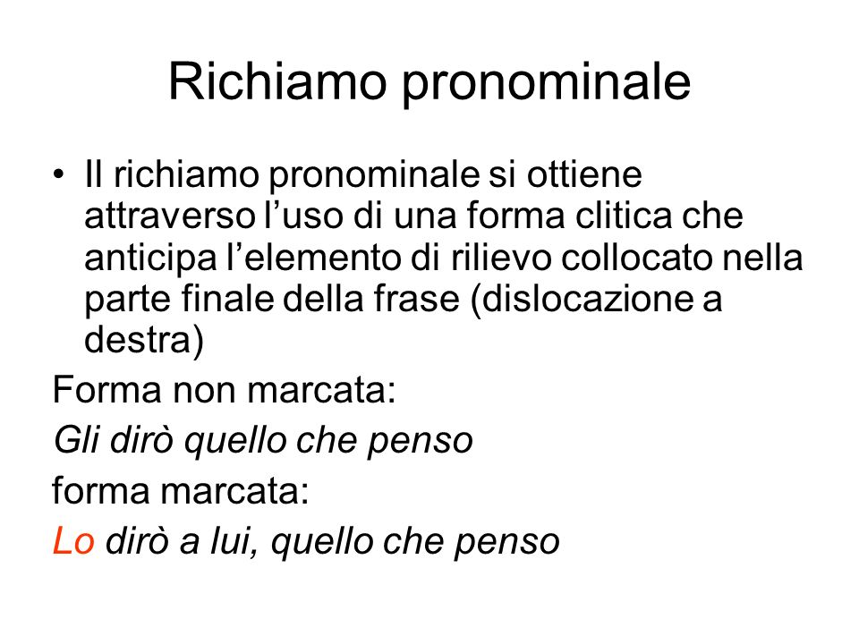 Richiamo pronominale