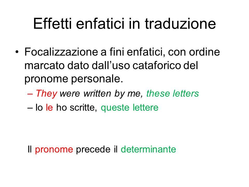 Effetti enfatici in traduzione