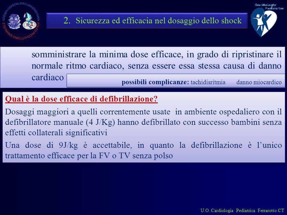 2. Sicurezza ed efficacia nel dosaggio dello shock