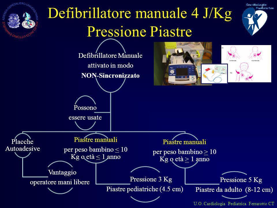 Defibrillatore manuale 4 J/Kg Pressione Piastre