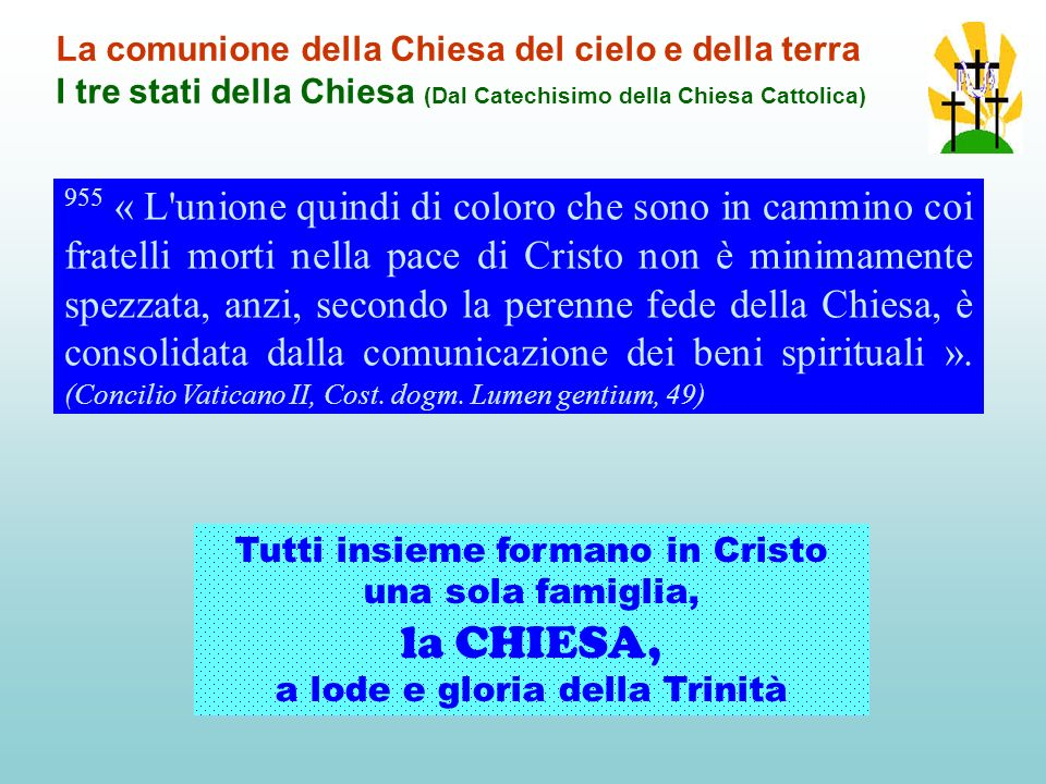la CHIESA, La comunione della Chiesa del cielo e della terra