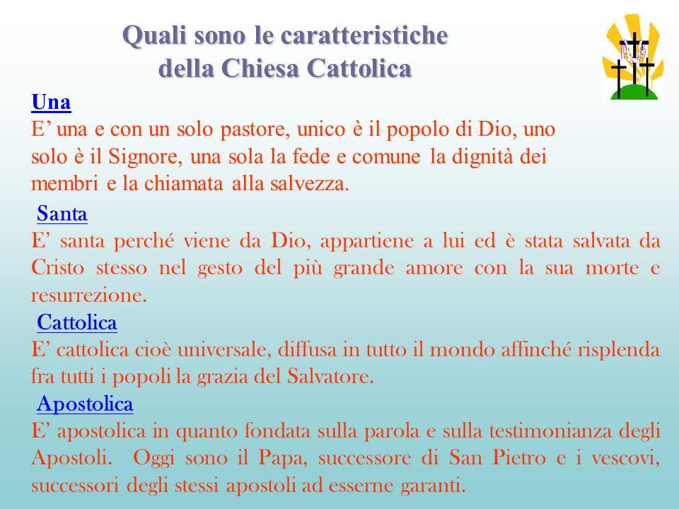 Quali sono le caratteristiche della Chiesa Cattolica