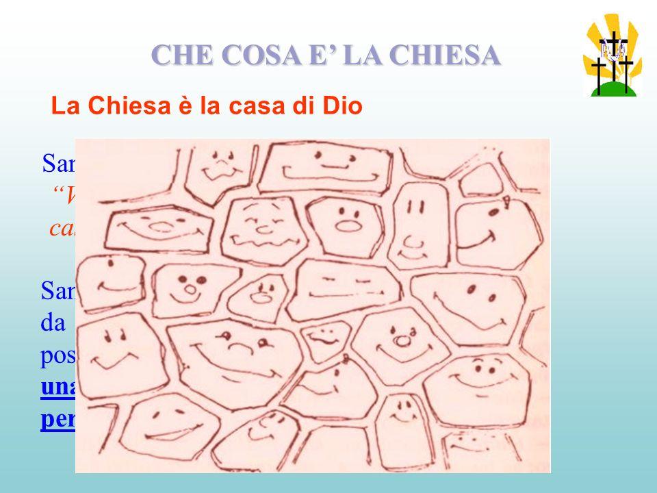 CHE COSA E' LA CHIESA La Chiesa è la casa di Dio.