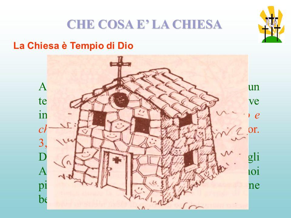 CHE COSA E' LA CHIESA La Chiesa è Tempio di Dio.