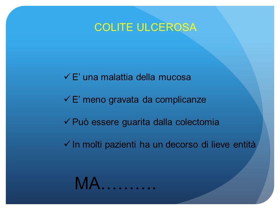 MA………. COLITE ULCEROSA E' una malattia della mucosa