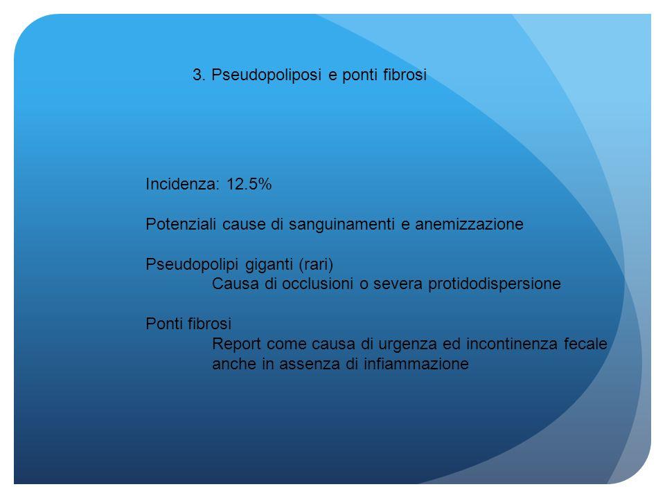 3. Pseudopoliposi e ponti fibrosi