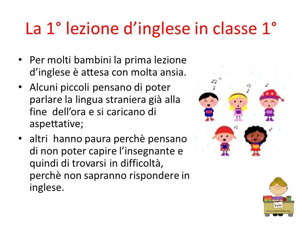 La 1° lezione d'inglese in classe 1°