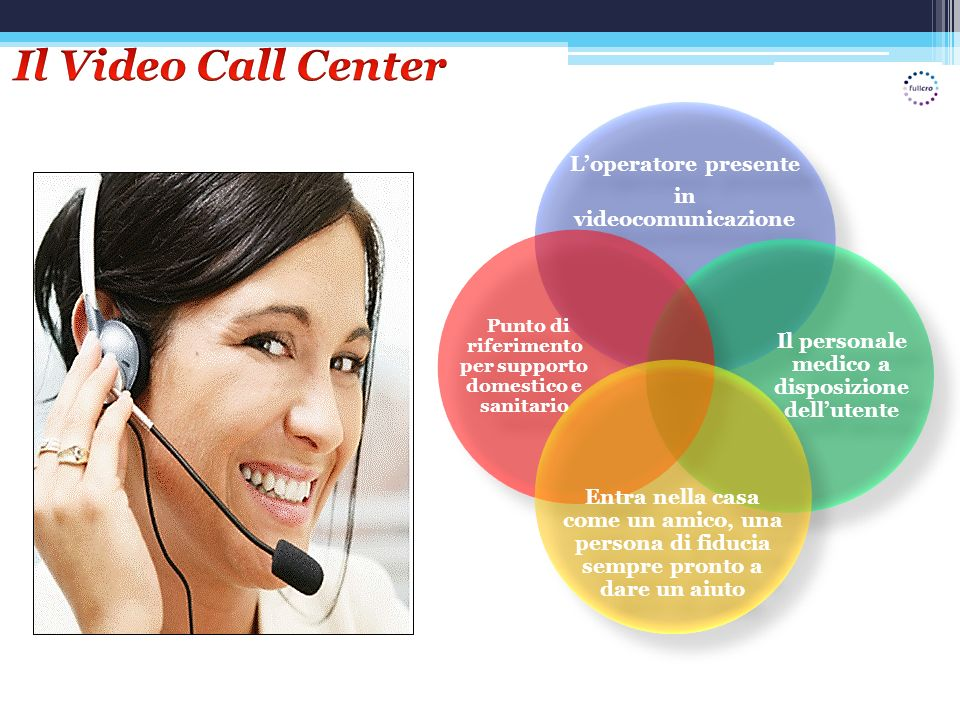 Il Video Call Center L'operatore presente in videocomunicazione