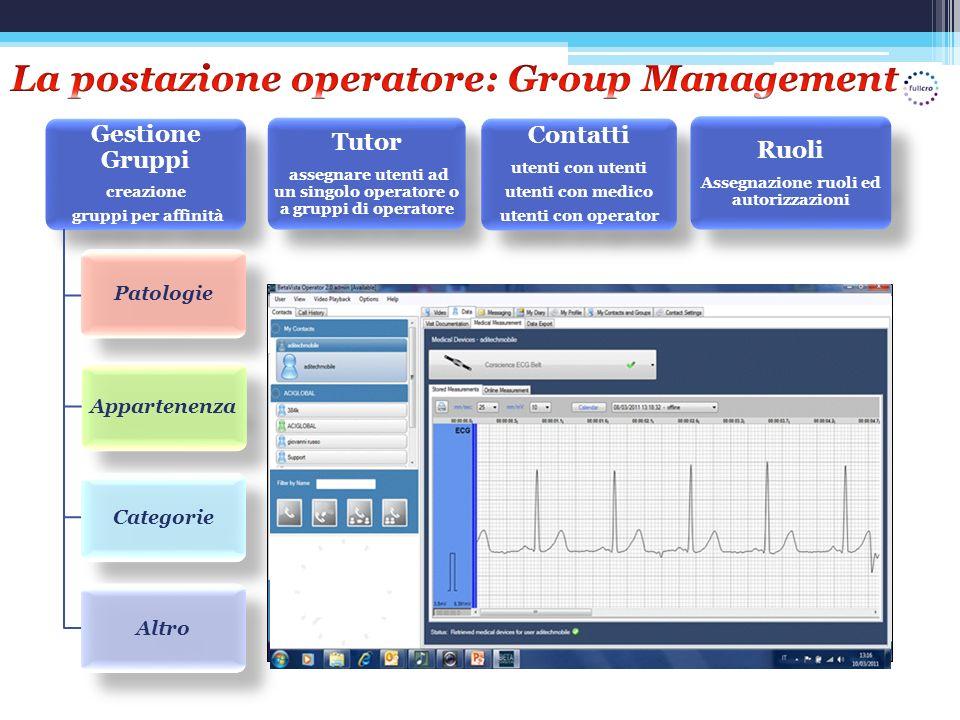 La postazione operatore: Group Management