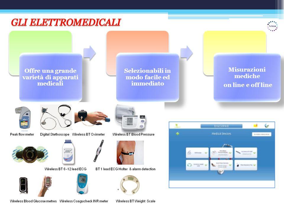 GLI ELETTROMEDICALI Offre una grande varietà di apparati medicali