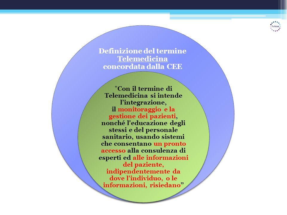Definizione del termine Telemedicina concordata dalla CEE