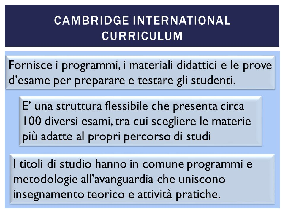 Cambridge International Curriculum