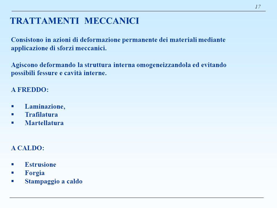 TRATTAMENTI MECCANICI