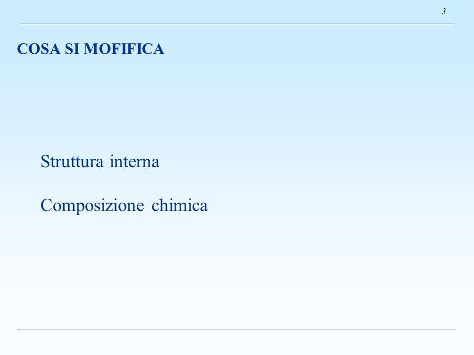 3 COSA SI MOFIFICA Struttura interna Composizione chimica