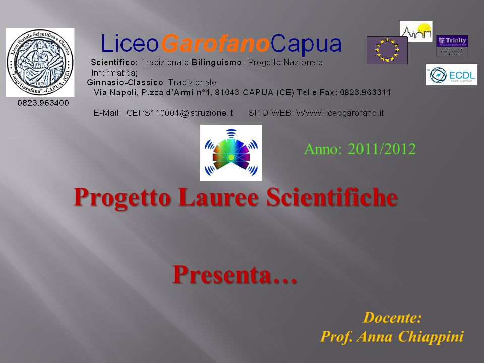 Progetto Lauree Scientifiche Presenta…