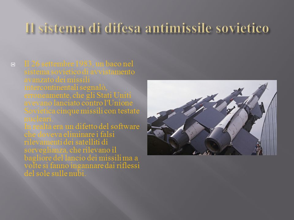 Il sistema di difesa antimissile sovietico