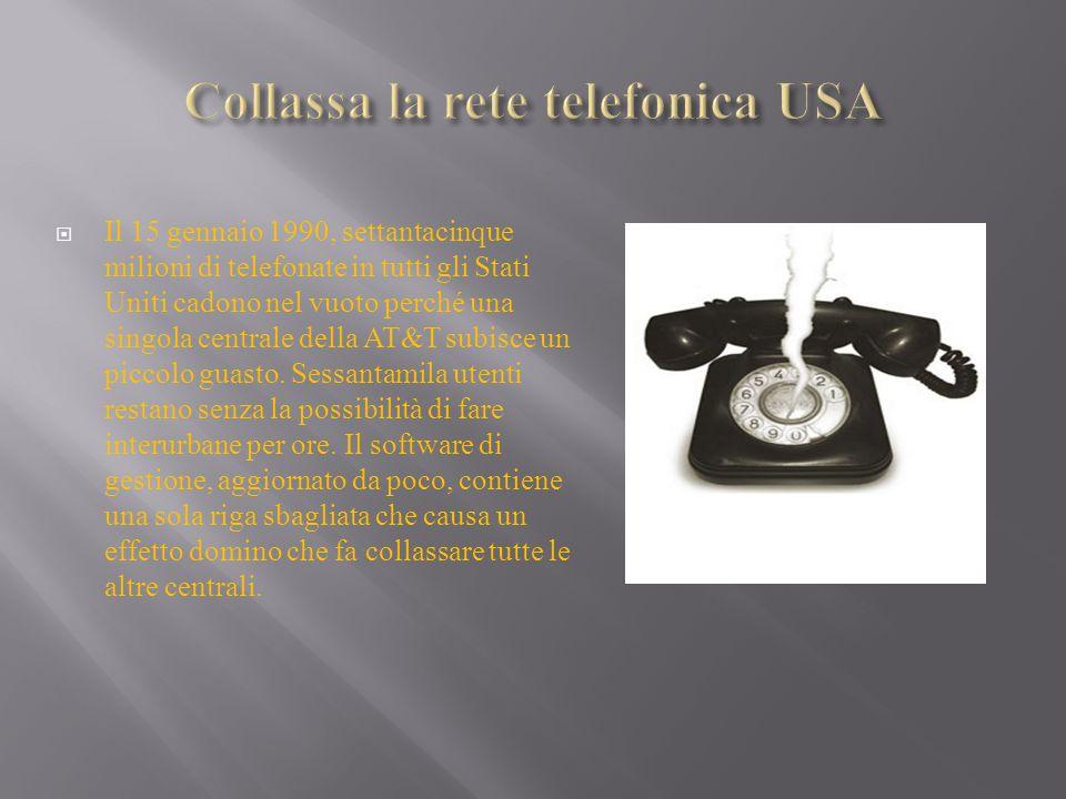 Collassa la rete telefonica USA