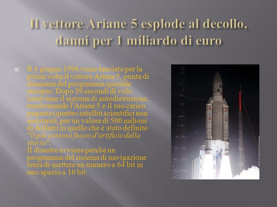 Il vettore Ariane 5 esplode al decollo, danni per 1 miliardo di euro
