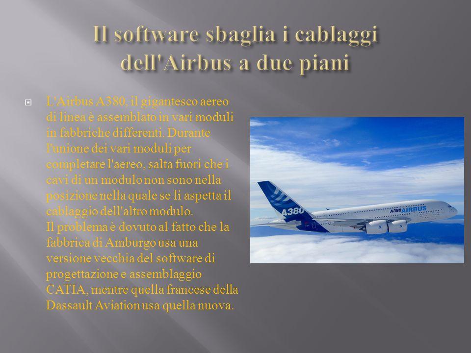 Il software sbaglia i cablaggi dell Airbus a due piani