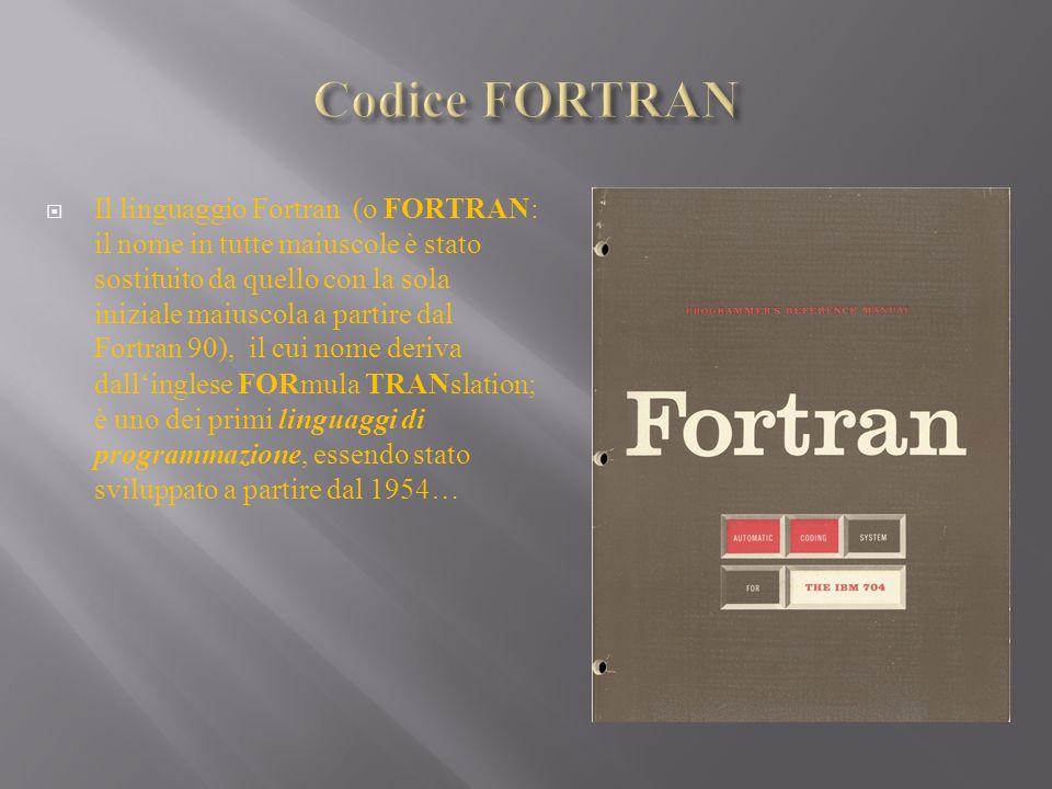 Codice FORTRAN