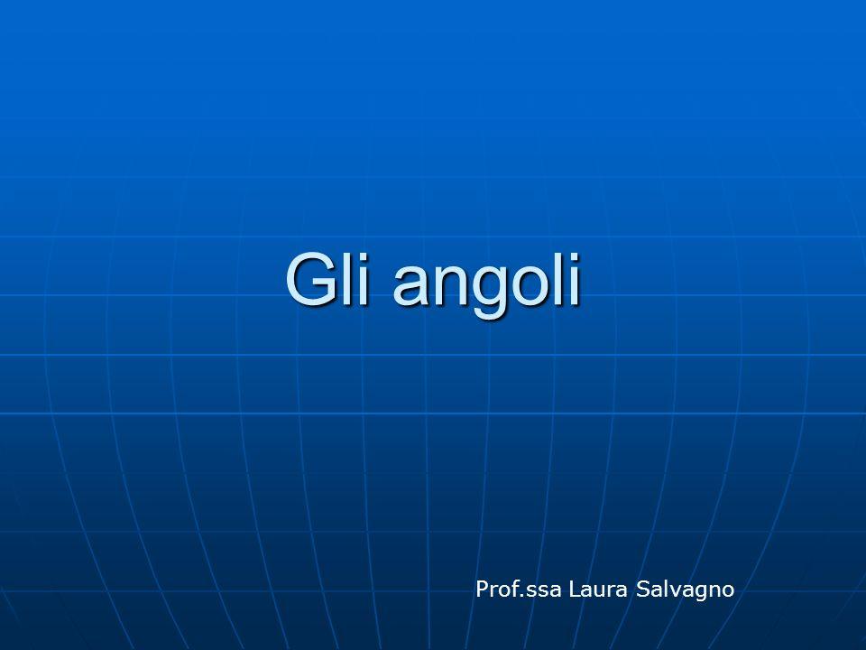 Gli angoli Prof.ssa Laura Salvagno