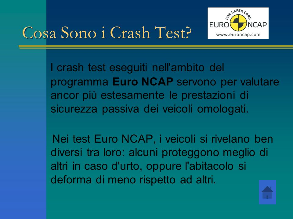 Cosa Sono i Crash Test
