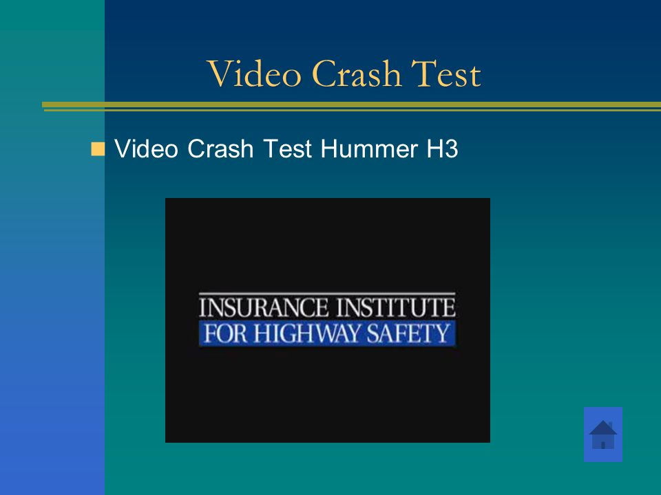 Video Crash Test Video Crash Test Hummer H3