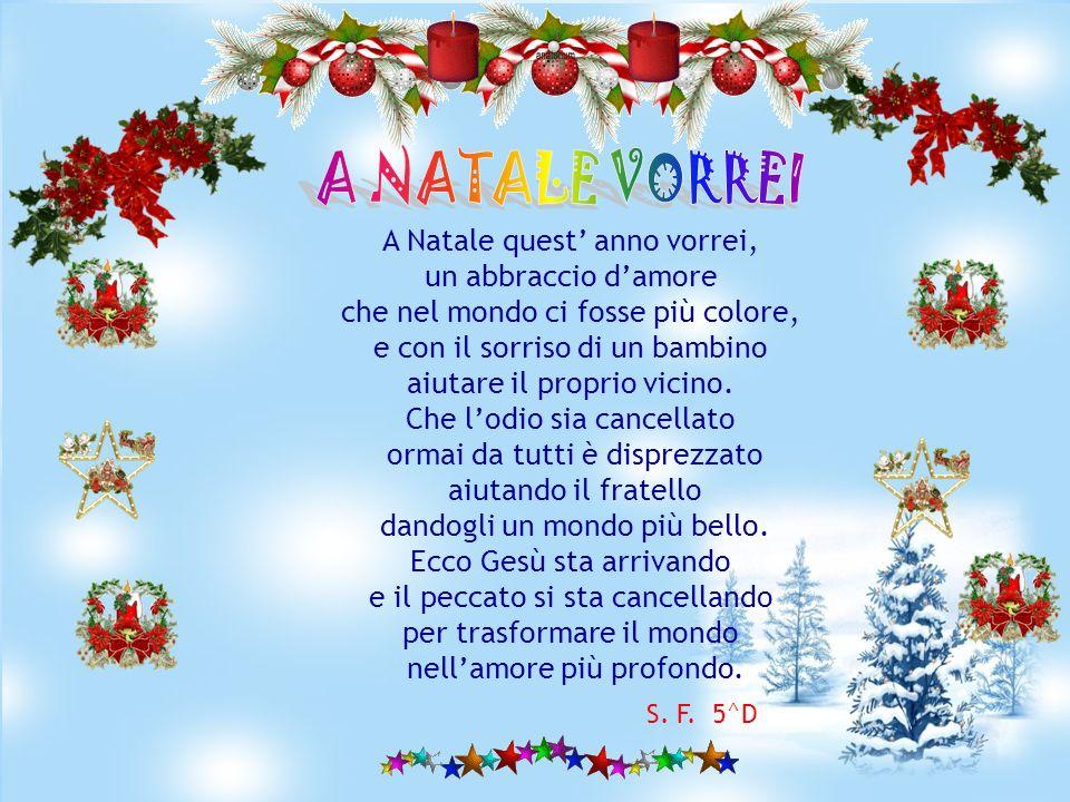 A NATALE VORREI A Natale quest' anno vorrei, un abbraccio d'amore