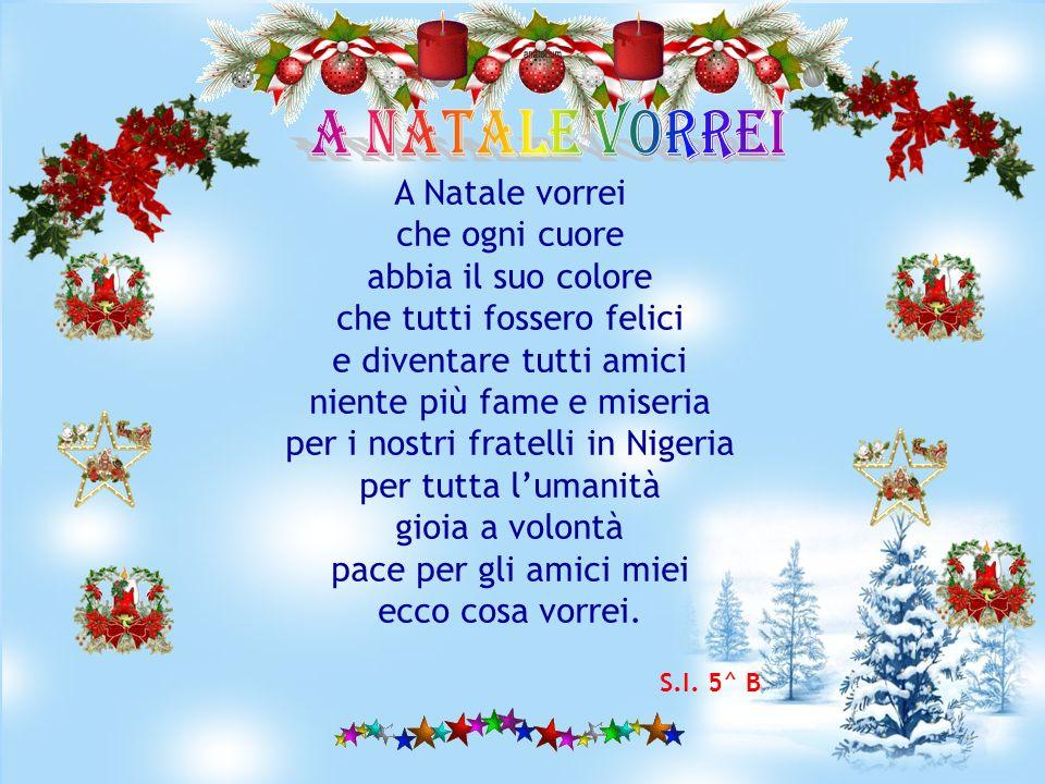 A NATALE VORREI A Natale vorrei che ogni cuore abbia il suo colore
