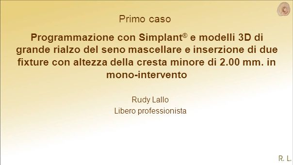 Rudy Lallo Libero professionista