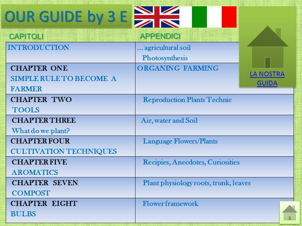 OUR GUIDE by 3 E LA NOSTRA GUIDA capitoli appendici INTRODUCTION