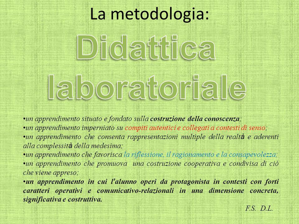 Didattica La metodologia: laboratoriale