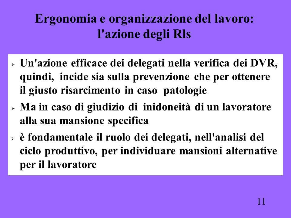 Ergonomia e organizzazione del lavoro: