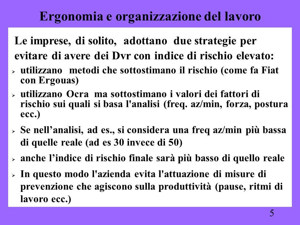 Ergonomia e organizzazione del lavoro