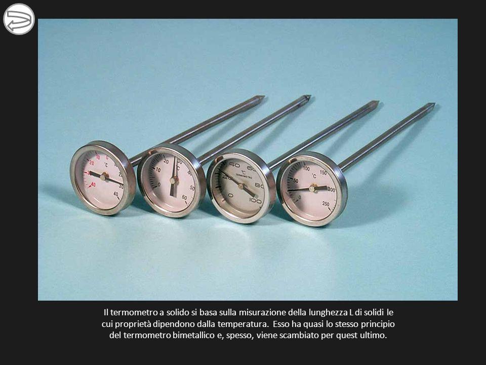 Il termometro a solido si basa sulla misurazione della lunghezza L di solidi le cui proprietà dipendono dalla temperatura.