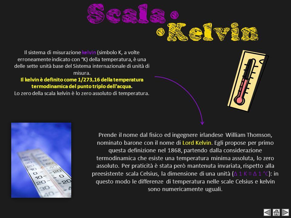 Lo zero della scala kelvin è lo zero assoluto di temperatura.