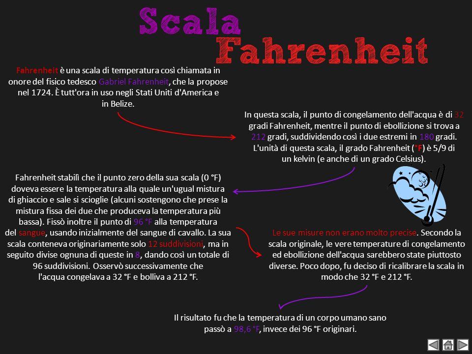 Fahrenheit è una scala di temperatura così chiamata in onore del fisico tedesco Gabriel Fahrenheit, che la propose nel 1724. È tutt ora in uso negli Stati Uniti d America e in Belize.