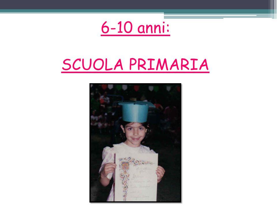 6-10 anni: SCUOLA PRIMARIA