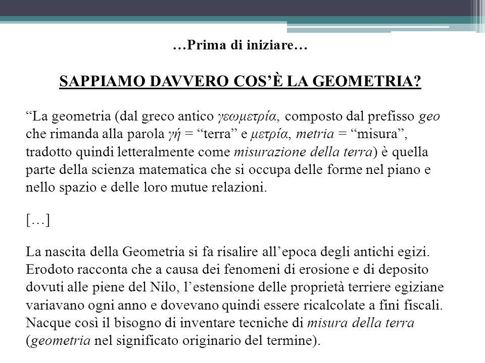 SAPPIAMO DAVVERO COS'È LA GEOMETRIA