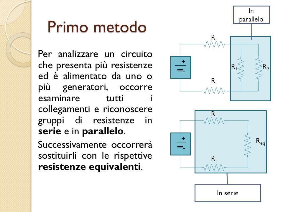 In parallelo Primo metodo. R.