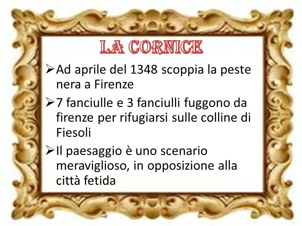 La cornice Ad aprile del 1348 scoppia la peste nera a Firenze