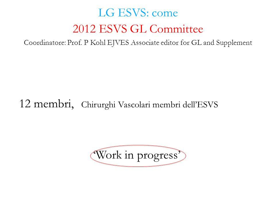 12 membri, Chirurghi Vascolari membri dell'ESVS