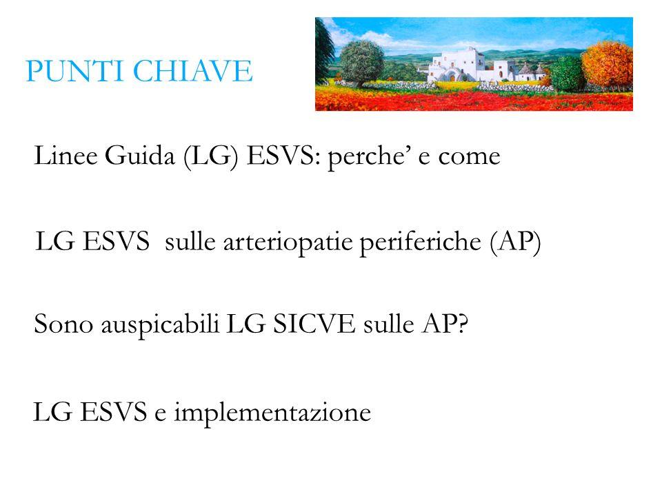 Linee Guida (LG) ESVS: perche' e come
