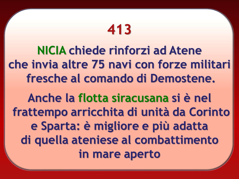 413 NICIA chiede rinforzi ad Atene