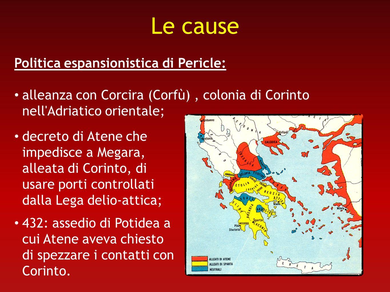 Le cause Politica espansionistica di Pericle: