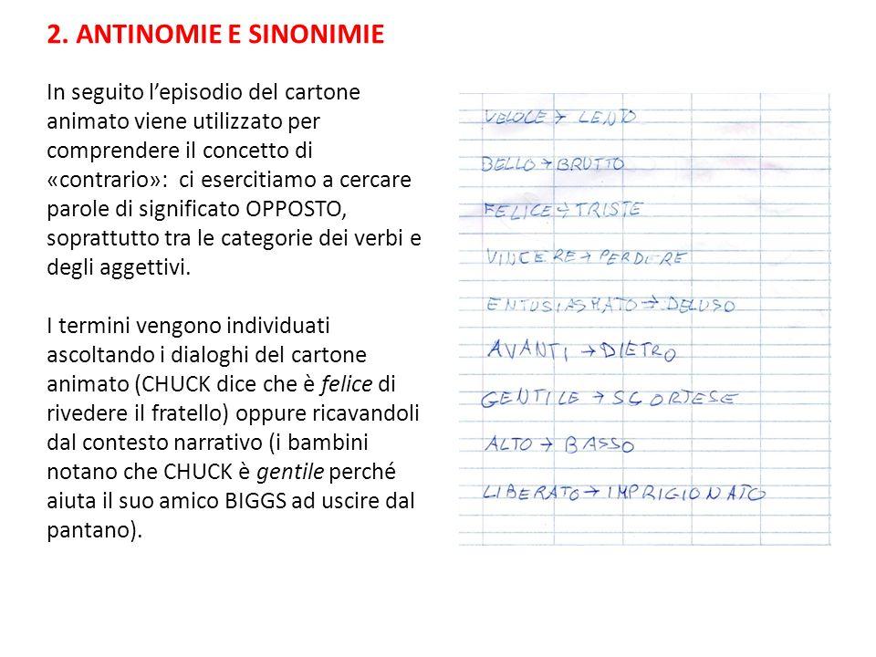 2. ANTINOMIE E SINONIMIE